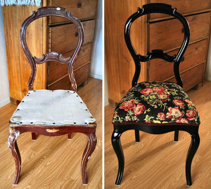 Как отреставрировать деревянный стул своими руками