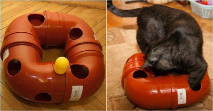 Простые идеи отличных игрушек для котов, созданных из подручных материалов