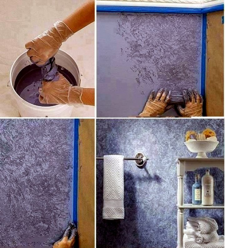 Декоративная покраска стен своими руками необычные способы
