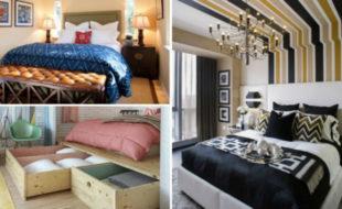 Свежая подборка замечательных дизайн-проектов для маленькой спальни