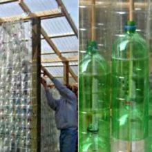 Гениальная идея для дачи: теплица из обычных пластиковых бутылок, стоимость которой копейки