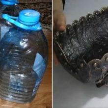 Как сделать старинную бронзовую хлебницу из пластиковой бутылки и старых газет