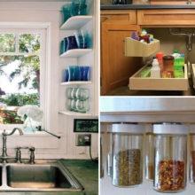 15 изобретательных решений, которые помогут сэкономить место на маленькой кухне