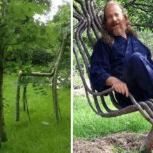 Придумана самой природой: мужчине понадобилось 10 лет, чтобы изготовить растущую мебель