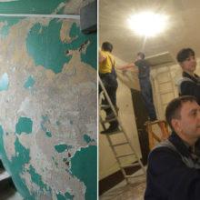 Жители многоэтажки собственными силами украсили подъезды удивительными рисунками