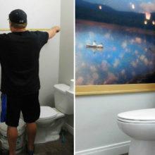 Полное преображение ванной комнаты при помощи занавески для душа и пары умелых рук