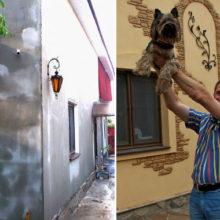 Немного фантазии и вуаля: хозяин поделился вариантом оригинальной отделки внешних стен дома