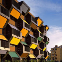 Апартаменты с удивительными балконами появились на берегу Средиземного моря в Словении