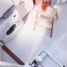 Стиральная машинка в крошечной ванной комнате: 9 практичных вариантов размещения