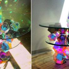 Великолепный дизайнерский столик американского художника сравним с настоящим шедевром