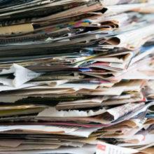 Стильный декор из газет и журналов, который легко соорудить даже во время обеденного перерыва