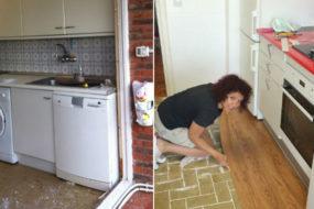 Супруги решили сделать ремонт на кухне самостоятельно: вышло бюджетно, ярко и очень стильно