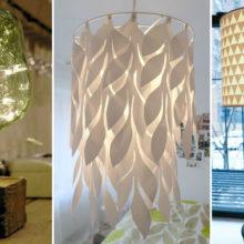 Причудливые идеи торшеров и люстр для домашнего уюта, созданные из простых материалов