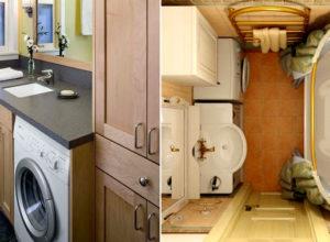 Советы по размещению стиралки в крохотной ванной комнате